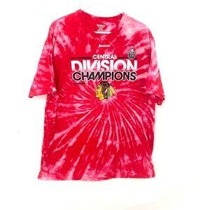 NHL Chicago blackhawks dyed tshirt